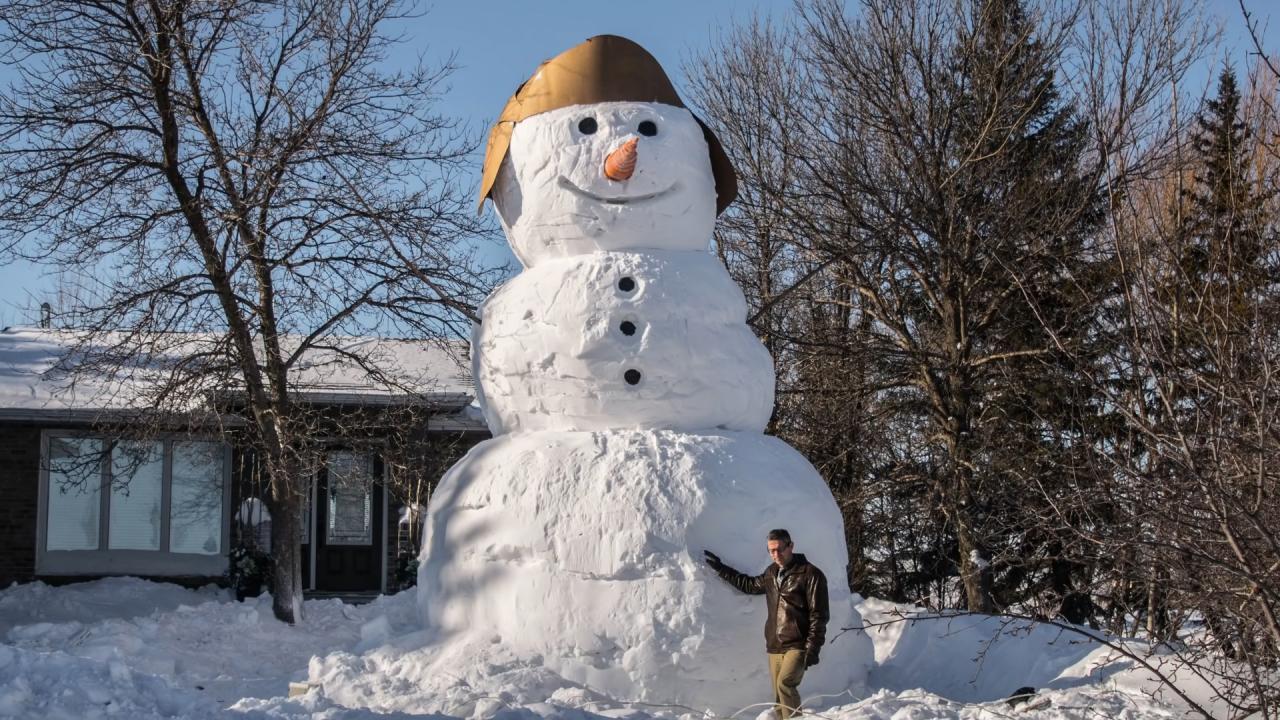Cómo Hacer Un Muñeco De Nieve Gigante