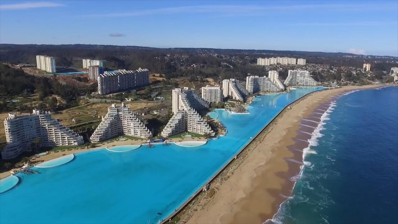 Esta es la piscina m s grande del mundo for Piscina mas grande del mundo chile