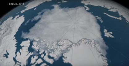 La capa de hielo invernal del Ártico, en mínimos