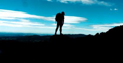 Los alpinistas: a un paso de la cima