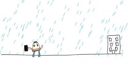 Correr o andar: ¿cómo te mojas menos cuando llueve?