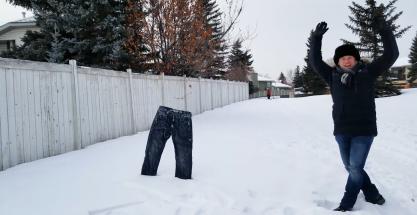 Pantalones congelados: el reto viral de este invierno