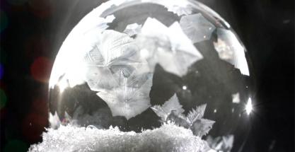 Cómo hacer pompas de jabón congeladas caseras