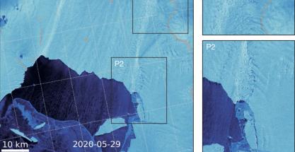 Imágenes de satélite muestran la desintegración de los grandes glaciares antárticos