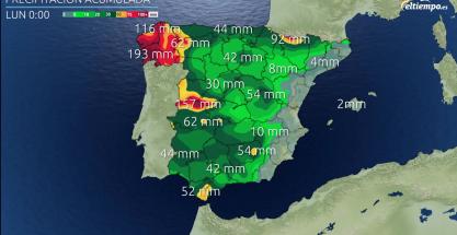 Va a seguir lloviendo: estas son las cantidades que esperamos